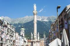 Saint Anne Column in Innsbruck, Austria. Stock Photography