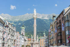 Saint Anne Column in Innsbruck, Austria. Royalty Free Stock Images