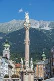 Saint Anne Column in Innsbruck, Austria. Stock Photo