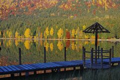 Saint Anne lake in autumn Stock Images