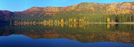 Saint Anne lake panorama Royalty Free Stock Photos