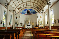 Saint Annes Catholic Church. The Interior of Saint Anne's Catholic Church on Mackinac Island in Michigan Stock Images