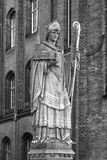 Saint Ansgar statue in Hamburg Stock Images