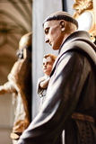Saint Anthony. The sculpture of Saint Anthony in the Church of St. Nicholas in Gdansk Stock Images