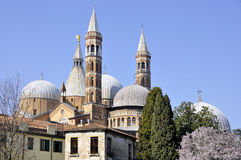 Saint Anthony basilica in Padova. Rear view of Saint Anthony basilica in Padova (Italy Royalty Free Stock Images