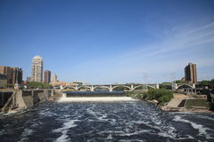 Saint Anthony Falls - Minneapolis Stock Photo