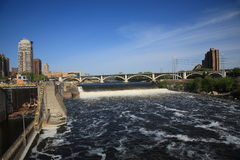 Saint Anthony Falls - Minneapolis Royalty Free Stock Photography
