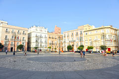 The Saint Anthony square, Cadiz, Andalusia, Spain Royalty Free Stock Photography