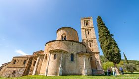 Free Saint Antimo Abbey In Tuscany Royalty Free Stock Photo - 112774985