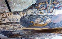 Saint antique George Church Madaba Jordan de mosaïque de carte photo libre de droits