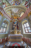 Saint Anton - Chapel of Saint Anton palace with the frescoes by Anton Schmidt from years 1750 - 1752. Royalty Free Stock Images