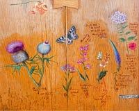 Saint Anton - Drawings of flowers and plants by Bulgarian tsar Ferdinand Coburg Stock Photos
