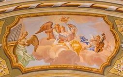 Saint Anton palace - Choir of angels fresco Stock Image