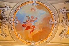 Saint Anton palace - Choir of angels fresco Royalty Free Stock Photos