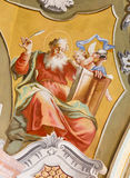 Saint Anton - Saint Matthew the Evangelist fresco Stock Photos
