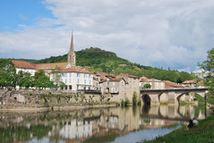 Saint Antonin Noble Val. Francia. Saint Antonin Noble Val a village in the French countryside Royalty Free Stock Photo