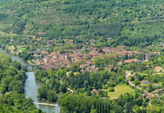 Saint Antonin Noble Val, an old village in Midi-Pyrenees Royalty Free Stock Images