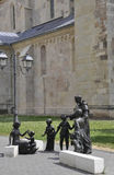 Saint Antonio with the Children statues from Alba Carolina Fortress courtyard in Romania Royalty Free Stock Photo