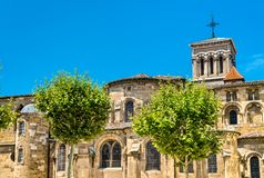 The Valence Cathedral, a Roman Catholic church in France. The Saint Apollinaris Cathedral of Valence, a Roman Catholic church in Drome, France royalty free stock photos