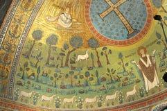 Saint Apollinaris and his flock Stock Photography