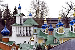 Saint-Assumption Pskovo-Pechersky monastery. One of the largest and rich in Russia friaries with centuries-old history Royalty Free Stock Photo