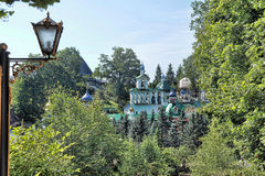 Saint-Assumption Pskovo-Pechersky monastery Royalty Free Stock Photos