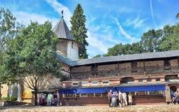 Saint-Assumption Pskovo-Pechersky monastery Stock Image