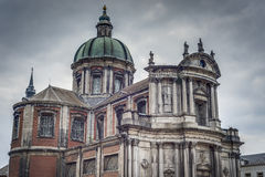 Saint Aubin Cathedral in Namur, Belgium royalty free stock photography