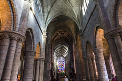 Saint-Aubin church in Guerande, France Stock Images