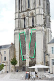 Saint Aubin Tower - le towert de cloche irrite dedans Images stock
