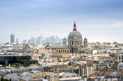 Saint-Augustin Church with Paris Skyline Royalty Free Stock Photo