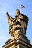 Saint Augustine. Sculpture, Charles bridge, Prague, Czech republic Royalty Free Stock Photo