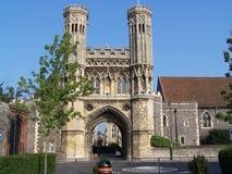 Saint Augustine abbey in Canterbury. UK main gate Royalty Free Stock Photo