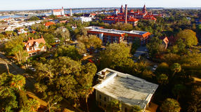 Saint Augustine, Florida. Aerial view at dusk Royalty Free Stock Photos