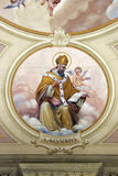Saint Augustine of Hippo. Fresco painting in church Stock Photography