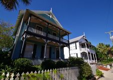Saint augustine houses. Spanish architecture in florida Stock Images