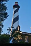Saint augustine lighthouse. On the north end of anastasia island Royalty Free Stock Photo