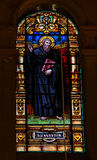 Saint Augustine - Stained Glass Stock Photos