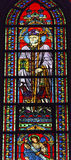 Saint Augustus Bishop Angel Stained Glass Notre Dame Paris France Stock Photography