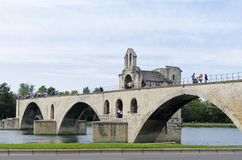 Saint Bénézet bridge, Avignon, France Royalty Free Stock Images