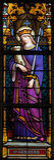 Saint Barbara. Stained glass window depicting Saint Barbara Royalty Free Stock Photo
