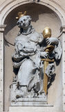 Saint Barbara. On baroque Jesuits church in Vienna. The church was built between 1623 and 1627 Stock Images
