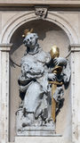 Saint Barbara. On baroque Jesuits church in Vienna. The church was built between 1623 and 1627 Stock Photo