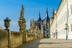 Saint Barbara Church in Kutna Hora, Czech Republic. UNESCO Royalty Free Stock Photography