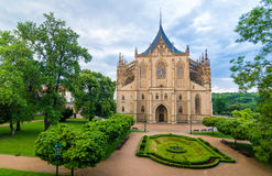 Saint Barbara Church in Kutna Hora, Czech Republic. UNESCO Royalty Free Stock Image