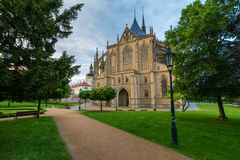 Saint Barbara Church in Kutna Hora, Czech Republic. UNESCO Stock Image