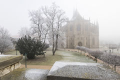 Saint Barbara Church in Kutna Hora, Czech Republic. Winter view of Saint Barbara Church in Kutna Hora, Czech Republic Stock Photography