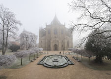 Saint Barbara Church in Kutna Hora, Czech Republic. Winter view of Saint Barbara Church in Kutna Hora, Czech Republic Royalty Free Stock Photo