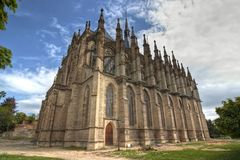 Saint Barbara Church, Kutna Hora Royalty Free Stock Photo
