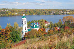 Saint Barbara church in Ples, Russia. Royalty Free Stock Images